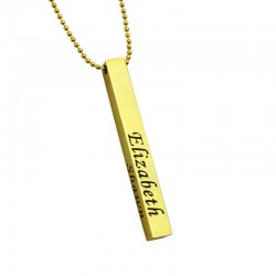 Men's 4 Names Bar Necklace