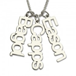 Vertical Names Necklace