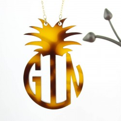 Acrylic Monogram Pineapple Necklace