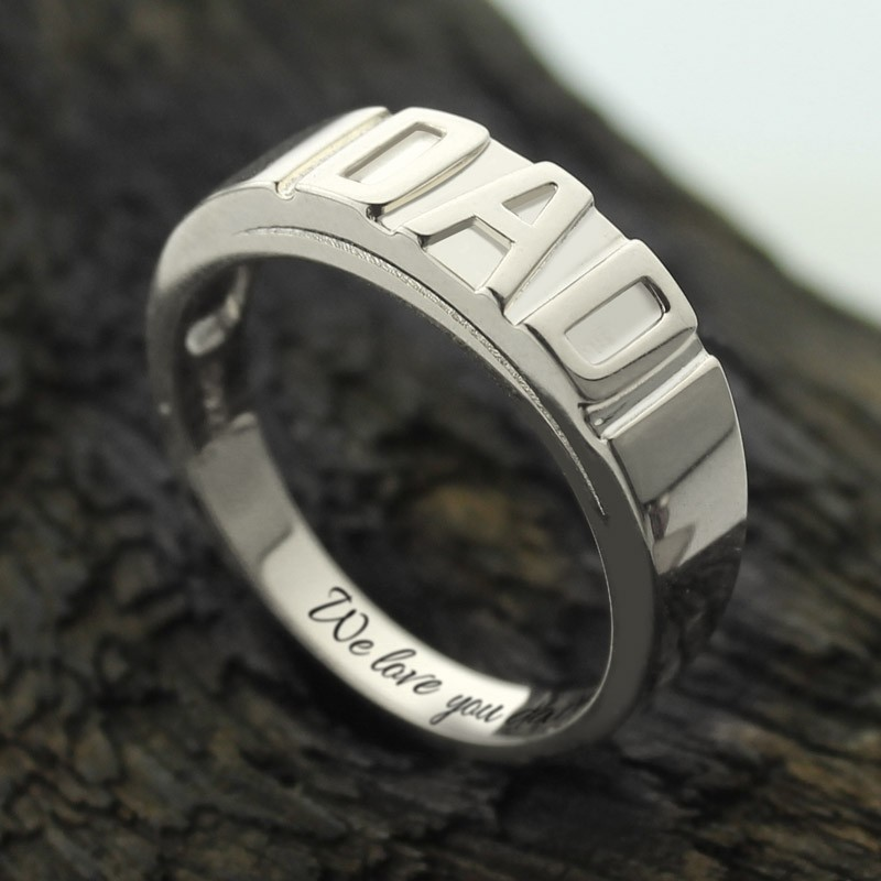 personalized men u0026 39 s dad ring