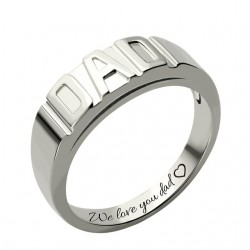 Personalized Men's DAD Ring
