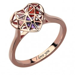 Heart Cage Ring