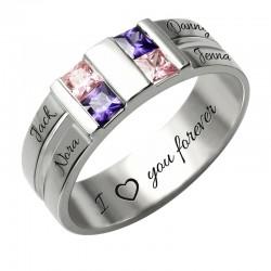 Customized Men's Birthstone Ring