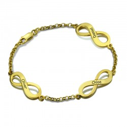 Triple Infinity Sign Family Bracelet