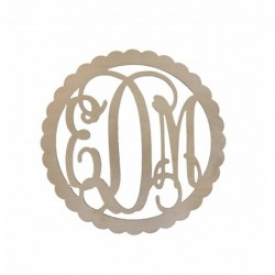 22 Inch Scallop Monogram