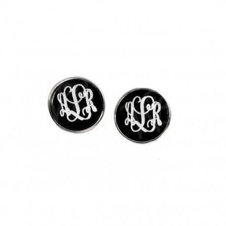 Silver Black Josie Earrings (Greek)