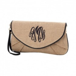 Burlap Clutch (Greek)