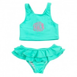 Kid's Mint Swimsuit Set (Greek)