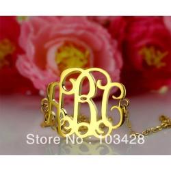 Custom initial Monogram Bracelet