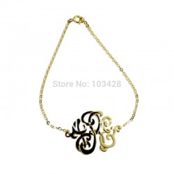 Sterioscopic Monogrammed  Name Bracelet