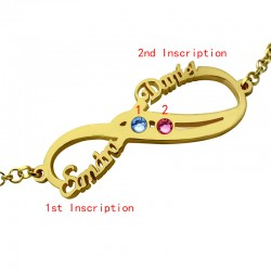 Infinity Two BirthSones Bracelet