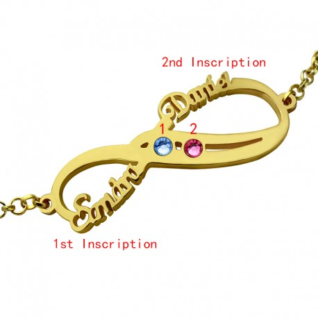 Infinity Two BirthSones Bracelet