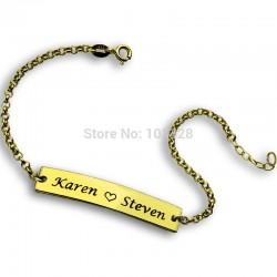 2 Name Bar Bracelet