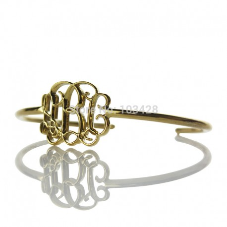 3D Monogrammed Bracelet