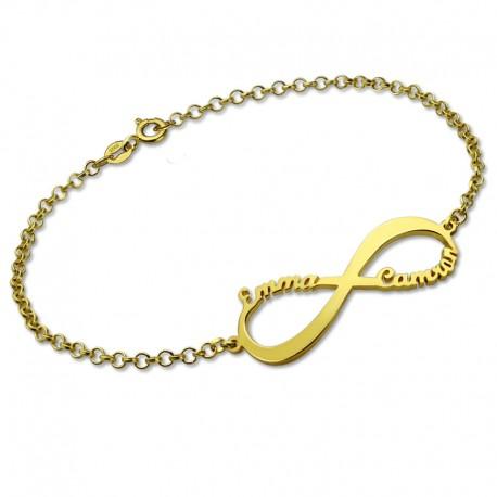 Infinity Two Names Bracelet