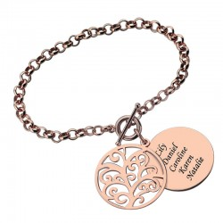 Engraved Family Tree Bracelet