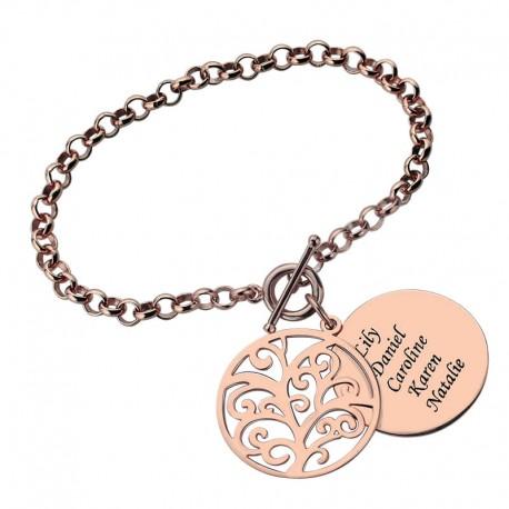 Engraved Family Tree Bracelet