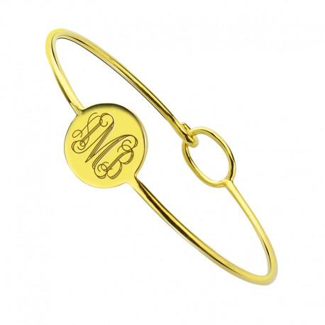 Engravable Monogram Bangle Bracelet