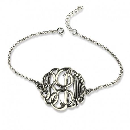 3D Monogrammed Chain Bracelet