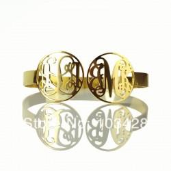 2 CIrcle Monogram Bracelet