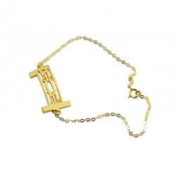3 Initials in Number 1 Bracelet