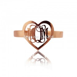 Wish Hearth with 3 Initials Bracelet
