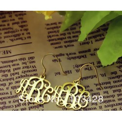 Initials Earrings