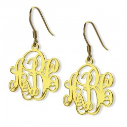 Vine Monogram Earrings