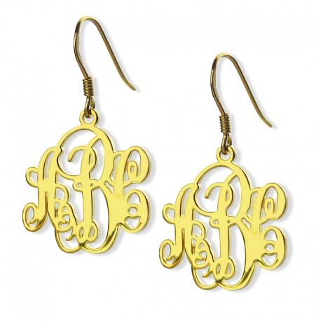 Vine Monogram Earrings