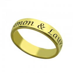 Engraved Message Ring