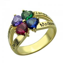 BirthStone and Names Ring
