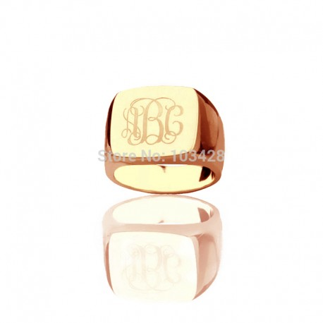 Monogrammed Square Ring