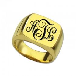 Square Ring Vine Monogram