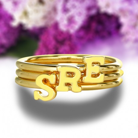 Tiny Letters Ring