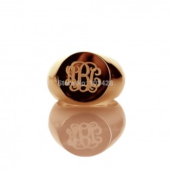 3 Initials Monogram Ring