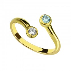 Dual BirthStone Ring for Mothers