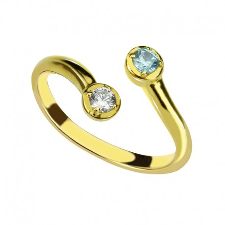 dual birthstone ring for mothers personalizedperfectly