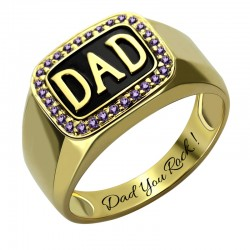 Dad Ring with BirthStone