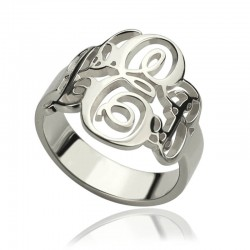 Vine Monogram Ring