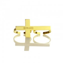 Cross with Double Finger Rings