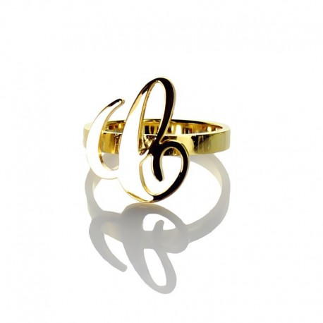 Handmade Carrie Style 1 Initial Ring
