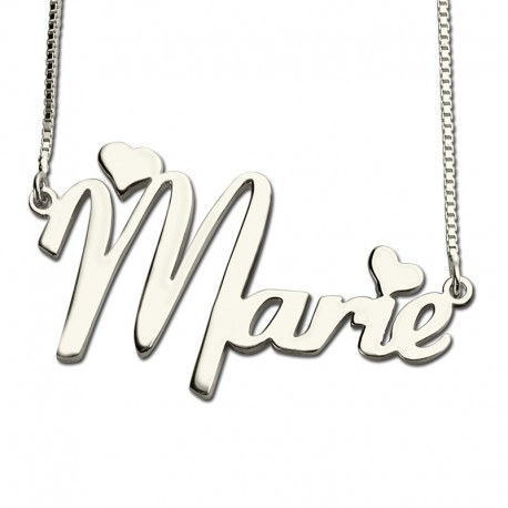 Cute Hearts Style Name Necklace