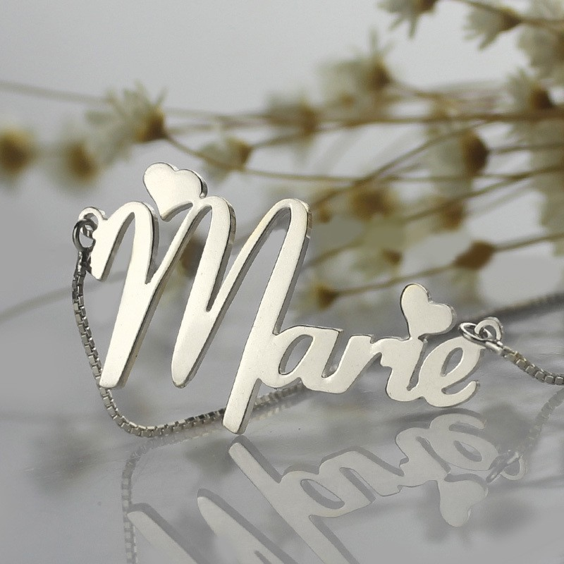 e3ac8bf3e05c6 Cute Hearts Style Name Necklace - PersonalizedPerfectly