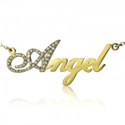 Capital Letter with BirthStones Name Necklace