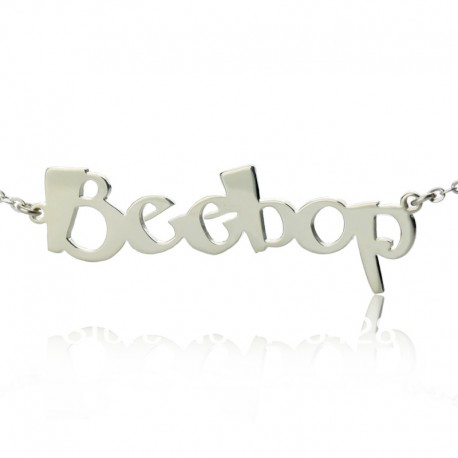 Beetle Font Name Necklace