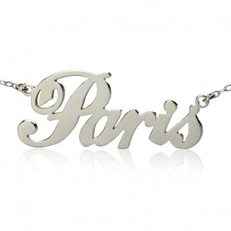 Paris Name Plate Necklace