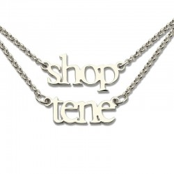 2 Layer Names Double Chain Necklace