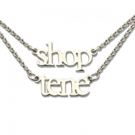 tone name chains names plate pendant necklaces two silver accent in with zales gold sterling diamond c v