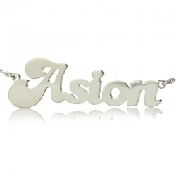 Name Necklace with Heart Shape