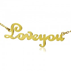 French Script MT fonts Necklace